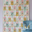 TILDA APPLE BUTTER Birdhouse Quilt Kit in Yellow & Teal  | Etsy