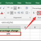 How to calculate percentage change or difference between two numbers in Excel?