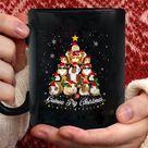 Tree Guineas Pig christmas Guinea Pig christmas Pajama coffee mug - Black Mug 15oz