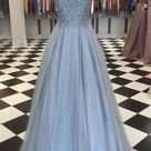 Sparkly Long Prom Dress with Appliques and Beading ,School Dance Dresses ,Fashion Winter Formal Dress PPS111 - US8 / Red