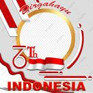 Twibbon Dirgahayu Indonesia 76th, Dirgahayu, 17 Agustus, Merdeka PNG Transparent Clipart Image and PSD File for Free Download