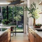 Kitchen Ceiling Contemporary Geometric Chandelier, Mid Century Scandinavian Wood Bead Pendant Light