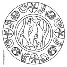 Dolphin mandala coloring pages - Hellokids.com