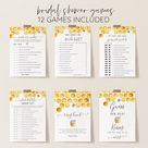 Bumble Bee Bridal Shower Would She Rather Game Printable | Etsy