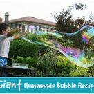 Homemade Bubble Recipe