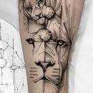 25 Tatuagens geométricas Masculinas e Femininas (2019) - Fotos e Tatuagens