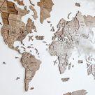 Wall Art Gift Ideas World Map Wooden Wall Decor Large Wall | Etsy