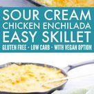 Keto Sour Cream Chicken Enchiladas - 730 Sage Street