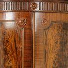 Antique Corner Cabinet, Entryway Decor, Carved Cabinet, Scotland 1880, B1457