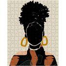 Black Hair Puzzle   10x14 inch