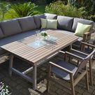 Enviro Wood Ecklounge 2 Stühle Tisch Mailand - lange Seite links