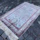 Silk Rug, Bohemian Rug, Area Rug, Turkish Rug, Vintage Rug, Home Decor, Carpet, Kilim, 116 x 79 cm /