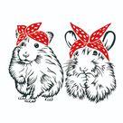 Bandana Hamster Cuttable Design
