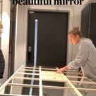 Create your own  beautiful mirror   big mirror DIY