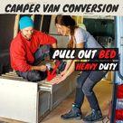 Pull out bed | Camper Van Conversion | ausziehbares Bett Camper Ausbau
