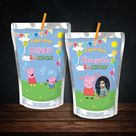 Peppa pig Capri Sun wrapper peppa pig capri sun juice label juice pouch Peppa labels party favors party decoration george pig birthday
