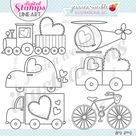 Sweet Transport Cute Digital Stamps for Commercial or Personal | Etsy