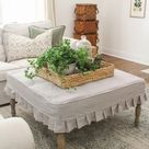 Pleated Ottoman Slipcover How To   Sincerely, Marie Designs