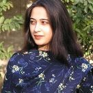 Pakistani Girl in Dark Blue Shalwar kameez
