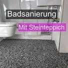 Badsanierung mit Steinteppich