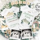 Twin Pregnancy Announcement Digital Social Media card, Instagram Facebook twins Baby Reveal due date Travel Announce. Our Adventure #047