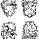 Harry Potter House Crest Coloring Page Sketch Coloring Page