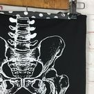 Iron Fist Anatomical Skeleton Leg Pencil Skirt