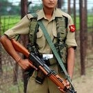 Indian female BSF solider on indian and Pakistan Border