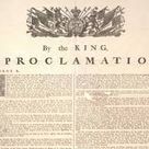 The Proclamation was issued on October 7, 1763 by King George III. The Proclamation deal with French Colonies from the French and Indian war. A portion was divided on the Eastern side of North America. Native Americans felt like colonists were a threat to their land so a decision had to be made,four areas Quebec, West Florida, East Florida, Grenada were expanded.Native Americans had a close relationship with France but British had hope with Proclamation things will change.