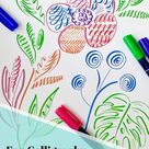 Fun Calligraphy Strokes Practice Sheets Floral