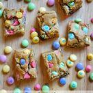Easter M&M Chocolate Chip Blondie Bars Recipe