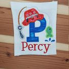 Personalized Fishing Shirt/Custom Embroidered Fishing Name Shirt/Boy Fishing Shirt/Fishing hat T-shirt/Fishing pole Shirt/Fishing Trip shirt