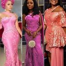 40+ Pink/Peach Asoebi Styles with Lace 2021