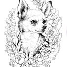 Color-Me Canine: Chihuahua Art Print by shygirlstudio