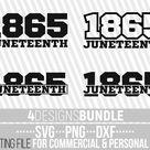 4x Juneteenth Designs Bundle svg, 1865 svg, Freeish s svg, Black History svg, African American, Melanin, File for Cricut, Instant download