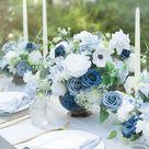 Dusty Blue & Navy Flowers Box Set - 16 Styles