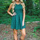 Teal Green Dress