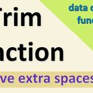 Remove extra spaces in Excel Trim function in Excel   Formula to know extra spaces
