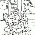 Nativity scene coloring pages printable games