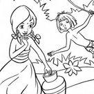 Mowgli Teasing Shanti In The Jungle Book Coloring Page