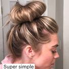 Super simple  ballerina bun