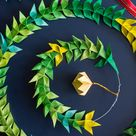 Origami Christmas Wreath - How I made it