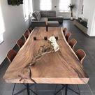 Live Edge Dining Table Reclaimed Single Slab Acacia Wood  100'' Length (A14)