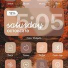 350 IOS 14 App Icons  Autumn Fall November Orange Red | Etsy