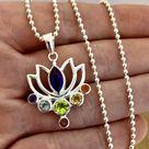 Laihas Stunning Bohemian Designer Chakra Lotus Flower Necklace