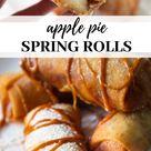 Apple Pie Spring Rolls