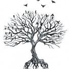 250+ Images of Family Tree Tattoo Designs (2021) Ideas with Names
