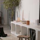 Megan Vlt DIY meuble tv IKEA en béton + shopping déco