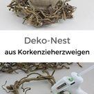 Deko Kranz basteln aus Korkenzieherzweigen   Natürlich Deko