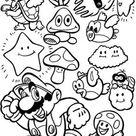 47 Disegni di Super Mario Bros da Colorare